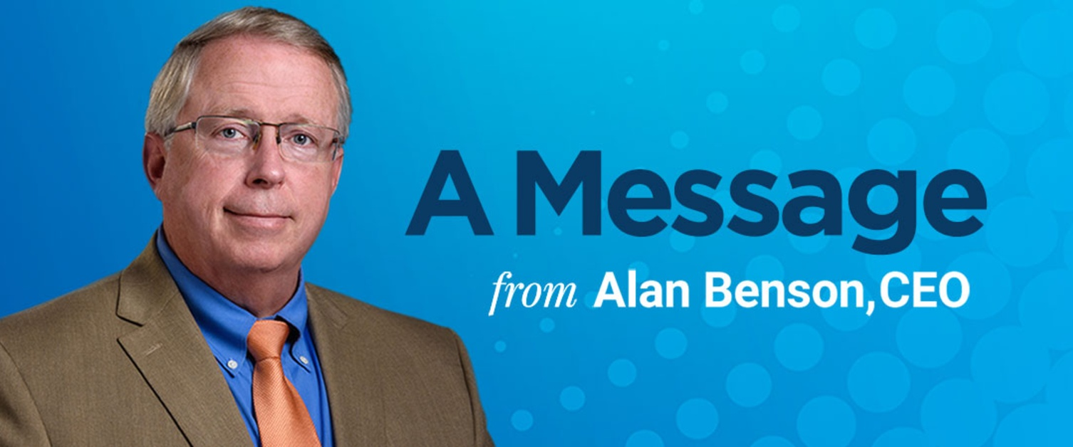 A Message from Alan Benson
